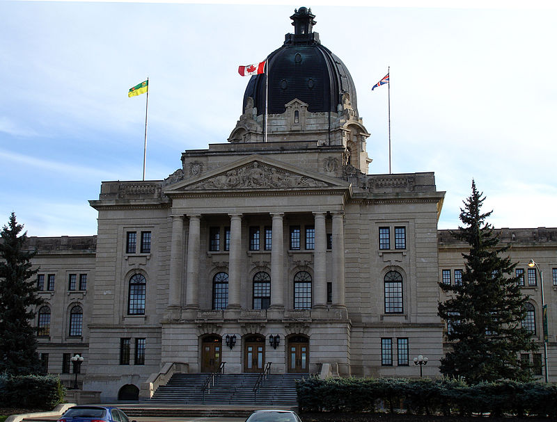 Saskatchewan legislative bldg august